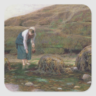 The Winkle Gatherer, 1869 Square Sticker