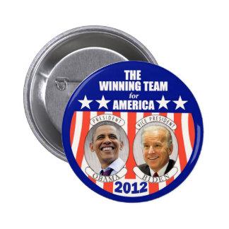 The Winning Team for America: Obama & Biden Pin