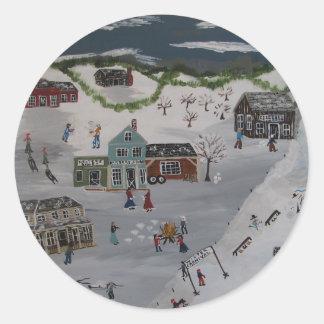 The Winter Carnival Round Sticker