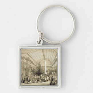 The Winter Garden, published by Auguste Bry (litho Silver-Colored Square Key Ring