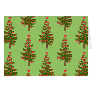 The Winter: Oh, Christmas Tree Pattern Green Note Card