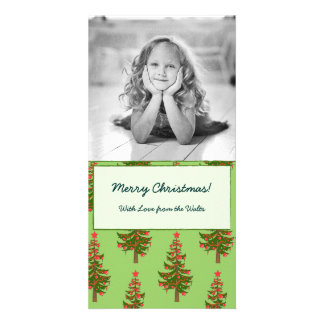The Winter: Oh, Christmas Tree Pattern Photocard Personalized Photo Card