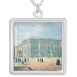 The Winter Palace as seen from Palace Passage Silver Plated Necklace