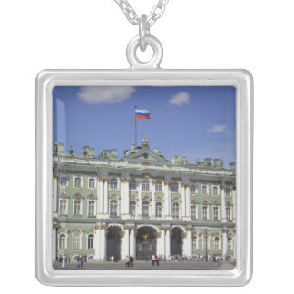 The Winter Palace, St Petersburg, Russia (RF) Silver Plated Necklace