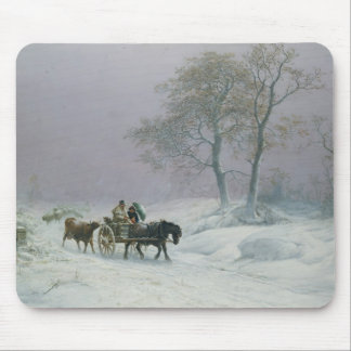 The wintry road to market mouse mat