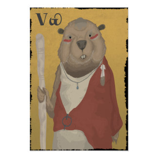 The Wise Beaver Poster