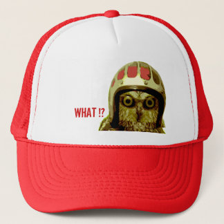 The Wise Motorcycle Owl Trucker Hat