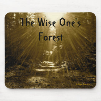 The Wise One's Forest Mouse Mat