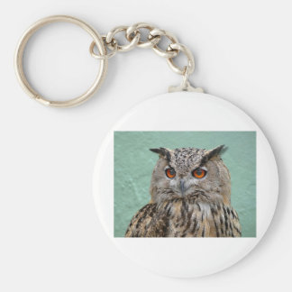 The Wise Owl Basic Round Button Key Ring