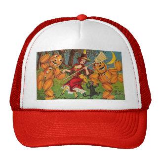 The Witch s Dance - Vintage Halloween Trucker Hats