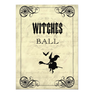 The Witches Ball Halloween 14 Cm X 19 Cm Invitation Card