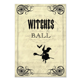 The Witches Ball Halloween RSVP 9 Cm X 13 Cm Invitation Card