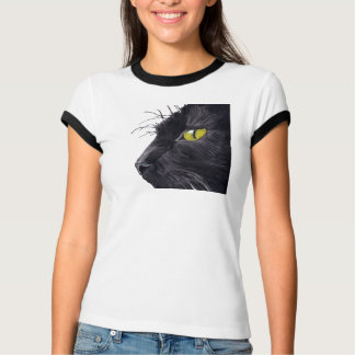 The Witness Womens Baby Bella Black Cat Design T-Shirt