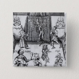 The Wits, or, Sport upon Sport, 1662 15 Cm Square Badge