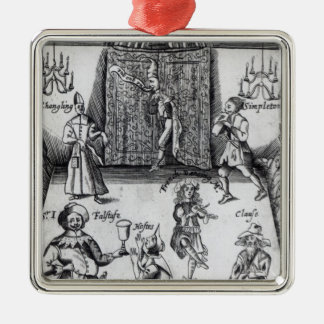 The Wits, or, Sport upon Sport, 1662 Silver-Colored Square Decoration