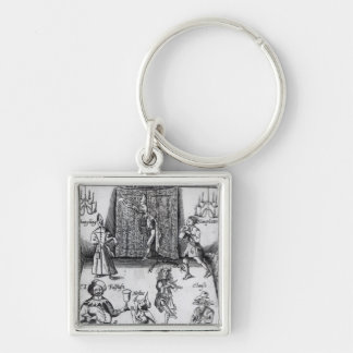 The Wits, or, Sport upon Sport, 1662 Silver-Colored Square Key Ring