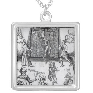 The Wits, or, Sport upon Sport, 1662 Square Pendant Necklace