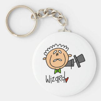 The Wizard Basic Round Button Key Ring