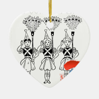 The Wizard of Oz Ceramic Heart Decoration