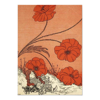 The Wizard of Oz Dorothy and Toto in the Poppies 13 Cm X 18 Cm Invitation Card