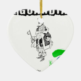 The wizard of OZ - illustration t-shirt Ceramic Heart Decoration