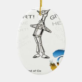 The Wizard of Oz - illustration t-shirt Ceramic Oval Decoration