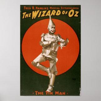 The Wizard of Oz Tin Man ad Poster