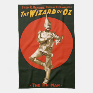 The Wizard of Oz Tin Man Vintage Poster 1903 Tea Towel