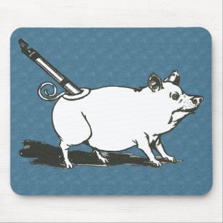 The WIzard of Oz Tin Pig Whistle - Blue Mousepad