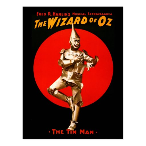 The Wizard of Oz - vintage theatrical poster Post Card