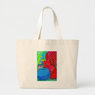 The Wizard s Cat Canvas Bags