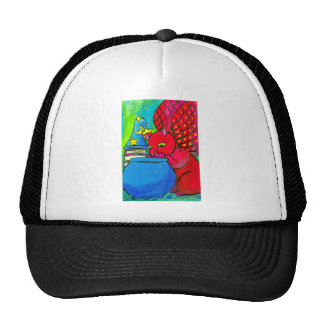 The Wizard's Cat Mesh Hats