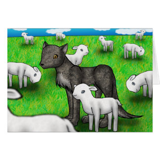 """The Wolf and the Lamb"" Card"