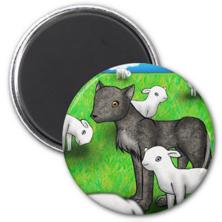 """The Wolf and the Lamb"" Magnet"