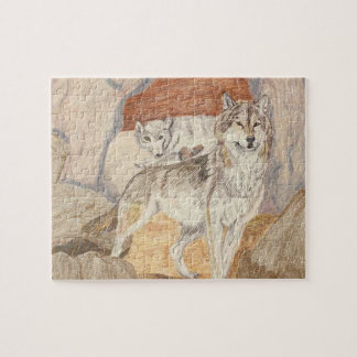 The Wolf Couple Jigsaw Puzzles