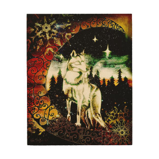 the Wolf Knows Wood Print