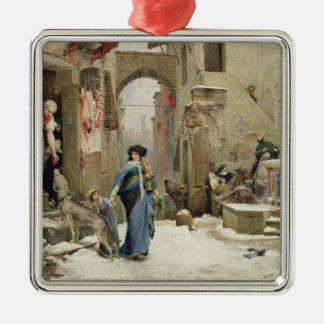 The Wolf of Gubbio, 1877 Christmas Ornament