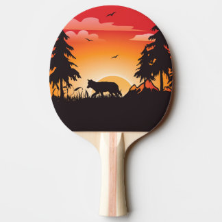The wolf ping pong paddle