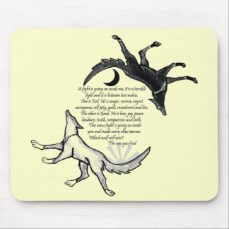 The Wolf that Feeds Mouse Pad