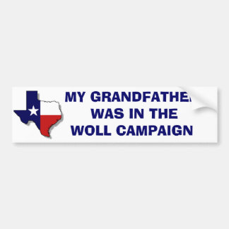 THE WOLL CAMPAIGN BUMPER STICKERS