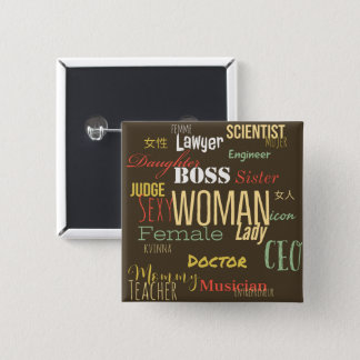 THE WOMAN BUTTON (Bossy Green)