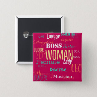THE WOMAN BUTTON (Fire Pink)