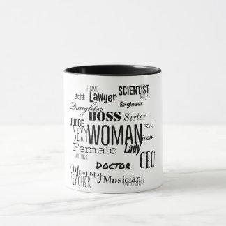THE WOMAN COFFEE MUG (Black & white)