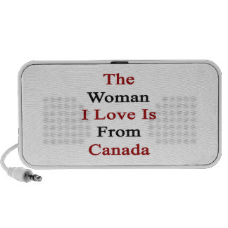 The Woman I Love Is From Canada iPhone Speakers