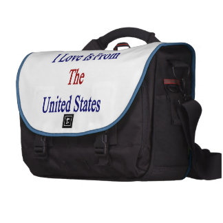 The Woman I Love Is From The United States Bags For Laptop
