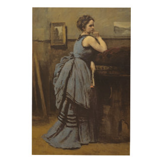 The Woman in Blue, 1874 Wood Wall Decor