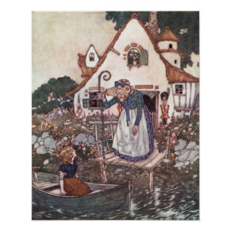 The Woman Learned in Magic by Edmund Dulac Poster