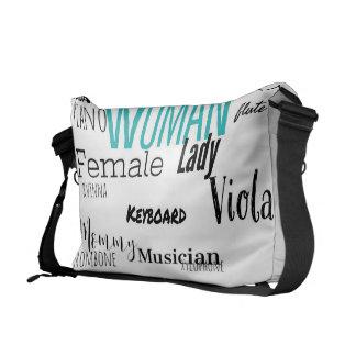 THE WOMAN MESSENGER BAG MUSIC EDITION (blk/blue)