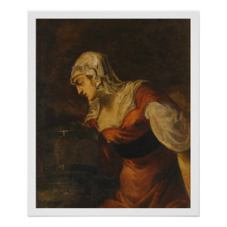 The Woman of Samaria at the Well, c.1560 (oil on c Poster