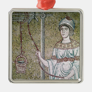 The Woman of Samaria Silver-Colored Square Decoration